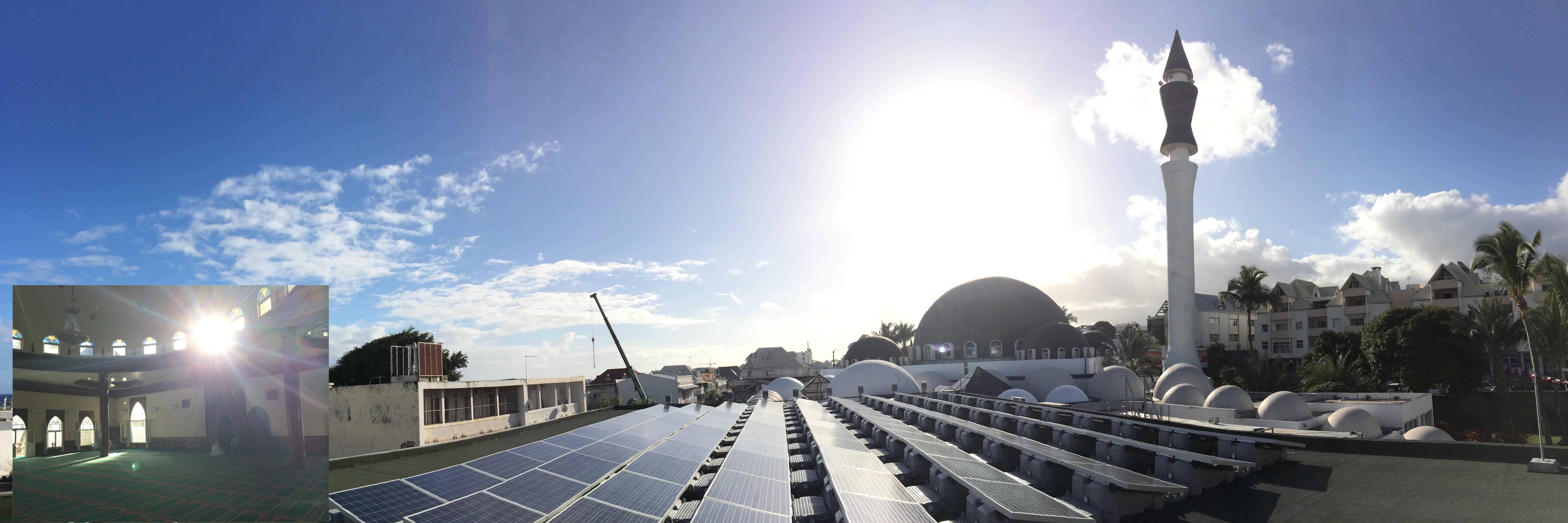 France Energies climatise la mosquée de St Pierre en 100% solaire !